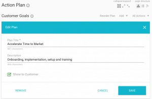 Kapta screenshot Customer Goals