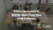Critical Behaviors your team must adopt to get the most from Key Account Management software